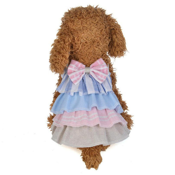 Lovely Pet Dog Layered dress Summer Sling Shoulder