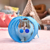 Pet Cat Tunnel Play Toys Crinkle With Ring Bell