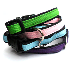 Nylon Adjustable Dog Puppy Collars 9-14""
