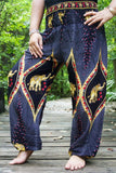 PEACOCK Black Pants Women Boho Pants Hippie Pants