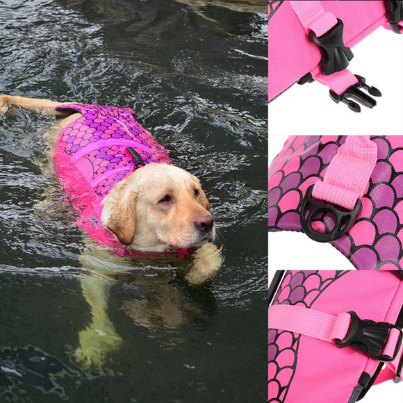 Dog Life Jacket  Swimming Dog Vest Preserver Swimwear