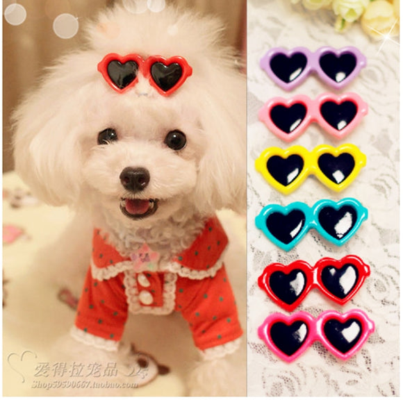 2pcs/1pair Fashion Style Pet Dog Hair Bows Dog Accessories