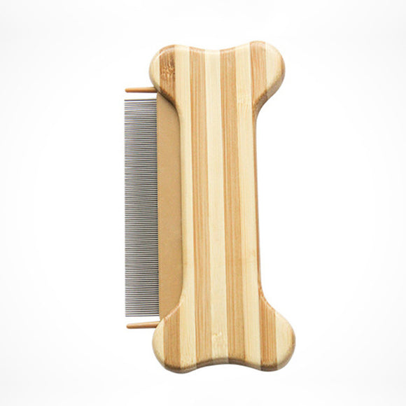 Bamboo Wood Pet Comb Massage Grooming Brush for Dogs