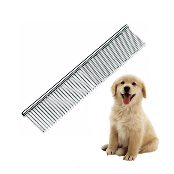 Pet Stainless Steel Grooming Tool Poodle Finishing Butter Comb