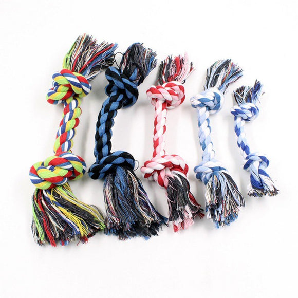 Pet Dog Cats Squeak Toys Small Pet Grind Teeth Tools Pet Rope Knot Chew Toys