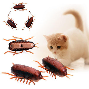 Electronic Funny Simulation Cockroaches Pet Cat Dog Interactive Training Play Playing Toy