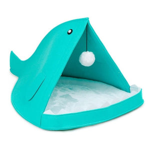 Unique Whale Shape Comfortable Pets Cats Bed Breathable Felt Pet Cats Cushion Cat Bed House Pets Accessories