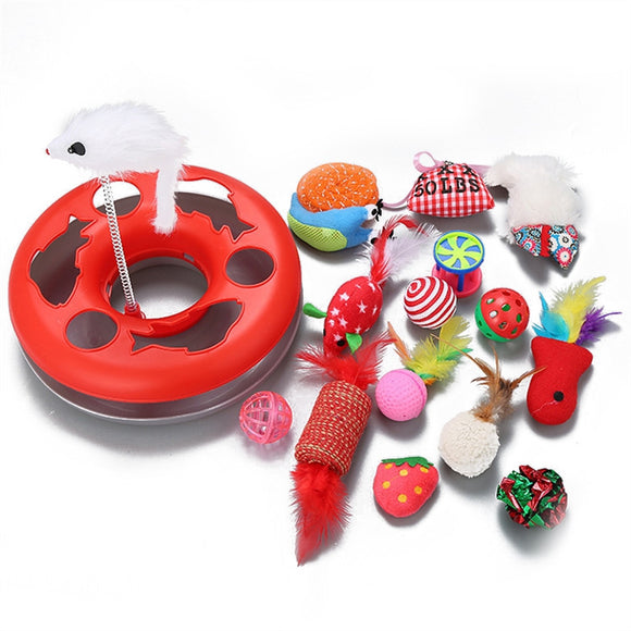 15Pcs Cat Interactive Toy Mice