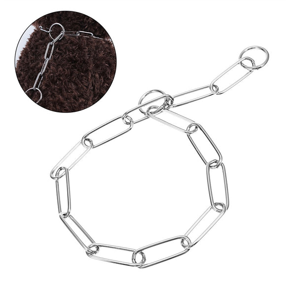 Extra Heavy Chain Dog Training Choke Pet Dog Collar Fur Saver 4.0mm * 65cm