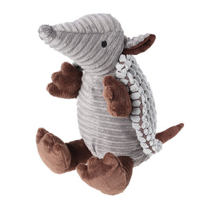 Pet Products Plush Toys Dog Chew Toys Pet Cats Cute Biting Sound Squeaky Toys Armadillo Design