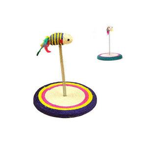 Cat Scratching Post Sisal Play Toy with Toy Mouse