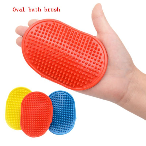 Soft Pet Dog Cat Bath Brush Comb Rubber Glove Hair Fur Grooming Massaging Massage Mit pet shower dog brush