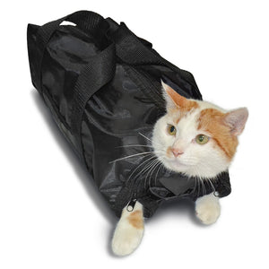 Anself Polyester Cat Grooming Bag Restraint Bag Cats Nail Clipping Cleaning Grooming Accessory Pet Supply