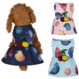 Summer Dog Beach Dress Puppy Clothes Princess Skirt for Small Medium Dogs Chihuahua Dress