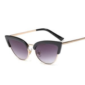 Bikinx Vintage sunglasses for women Designer fashion sun glasses Transparent cat eye sunglasses 2019 new oculos de sol feminino