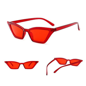 Bikinx Sexy retro sunglasses women Triangle designer black red vintage sun glasses Cat eye sunglasses oculos de sol gafas 2019