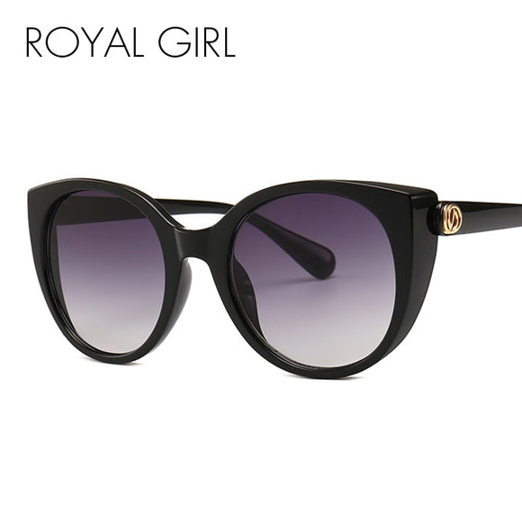 Royal Girl Cat Eye Sunglasses Woman Rivet Luxury Vintage Sun Glasses Female Brand Designer 2019 New Shades Oculos Gafas ss285