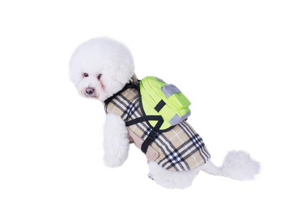 High Quality Custom New Fashion Design Dog Backpack Harness with leash