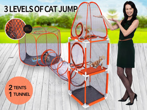 <SHIP FROM US> Portable Pet tent Dog Cat playpen play pen house Crate Cage Enclosure fences tunnel folding foldable