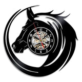 2019 New Hot Creative CD Vinyl Record Wall Clock Modern Design Animal Dog Cat Horse Wall Watch Classic Clock Relogio Parede