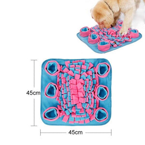 Dog Snuffle Feeding Mat Washable Pet Training Mat Sniffing Soft Fleece Pad for Dogs Cats Stress Interactive Toys Anti Slip Mat