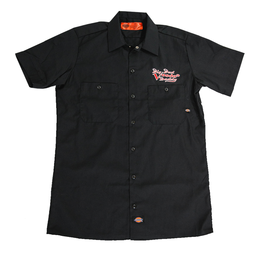 Embroidered Work Shirt - Black (New Style)
