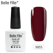 Load image into Gallery viewer, Belle Fille Base and Top Coat Multi color Gel Nail Polish