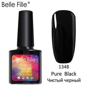 Belle Fille Base and Top Coat Multi color Gel Nail Polish