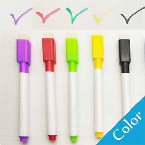Colorful Whiteboard Pen with Built-In Eraser