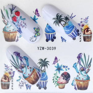FWC  Nail Art Water Transfer Stickers