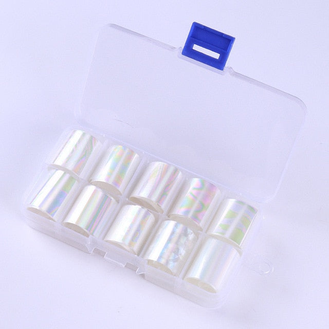 Holographic Nail art Foil Set