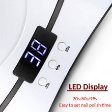 Load image into Gallery viewer, 36W UV LED Nail Lamp with Digital Display