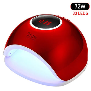 72W Dual UV LED Nail Lamp Nail Dryer