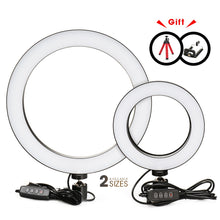 Load image into Gallery viewer, Photography LED Selfie Ring Light 16/26cm