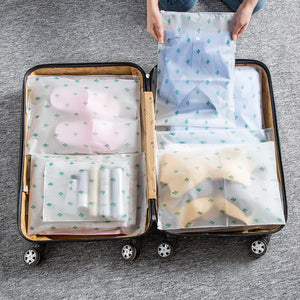 Transparent Suitcase Organizer Cases