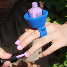 Load image into Gallery viewer, Silicon Nail Polish bottle Finger Holder