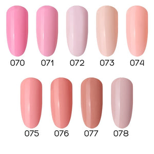 Natural Elegant Light Pink Color Gel Nail Polish