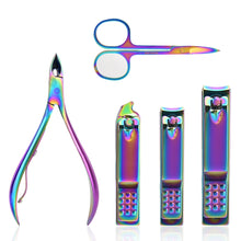 Load image into Gallery viewer, Rainbow Manicure Stainless Steel Kit