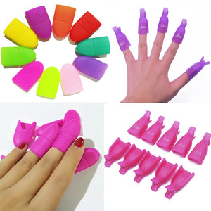 10pcs/set Gel Polish Remove Clips