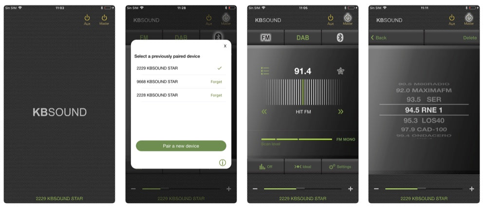 KB Sound Select Star iOS/Android App