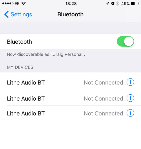 Lithe Audio Bluetooth Re-Naming Service