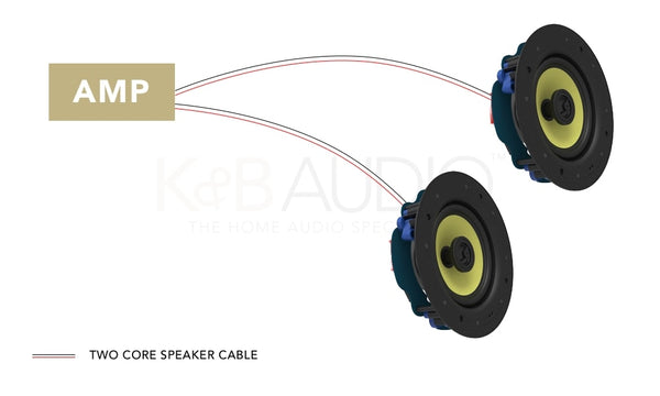 Ceiling Speaker Wiring For Two Speakers To Amplifier