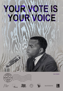 Atlanta, Georgia - John Lewis Tribute Get Out The Vote Poster by Haili Francis