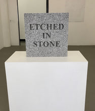 Load image into Gallery viewer, Etched in Stone (two-sided)