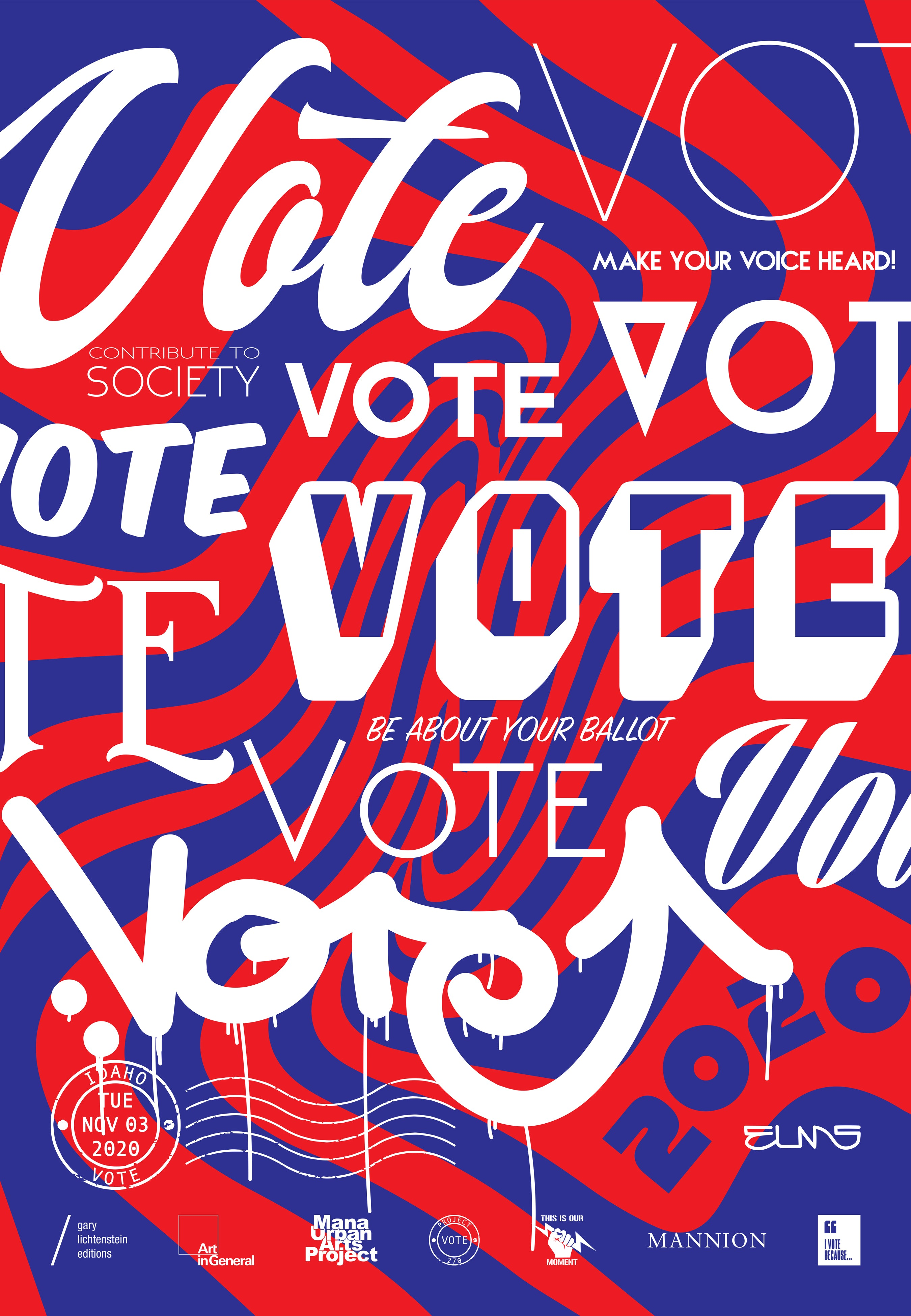 Idaho Get Out The Vote Poster by Elms One