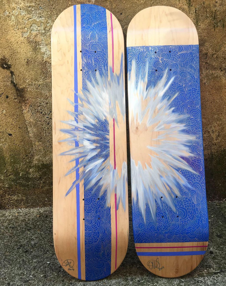 Push, Kick (Left Skate Deck)