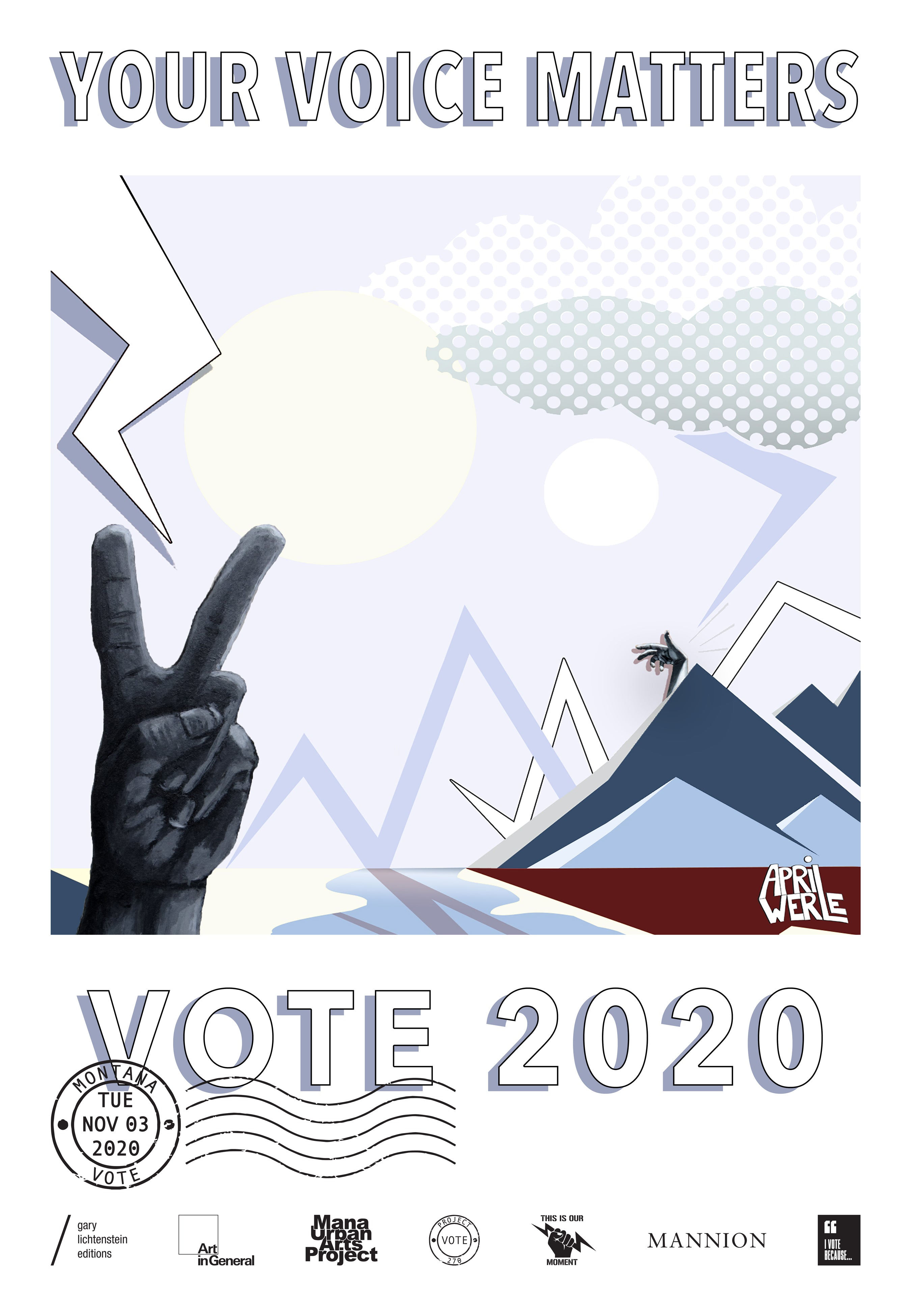 Montana Get Out The Vote Poster by April Werle