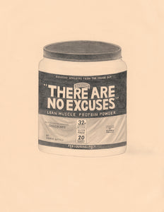 """There Are No Excuses"" Protein Powder by Mario Batali, Chef (Muscle Milk)"