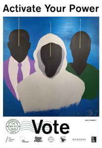 Nebraska Get Out The Vote Poster by Ang R. Bennett