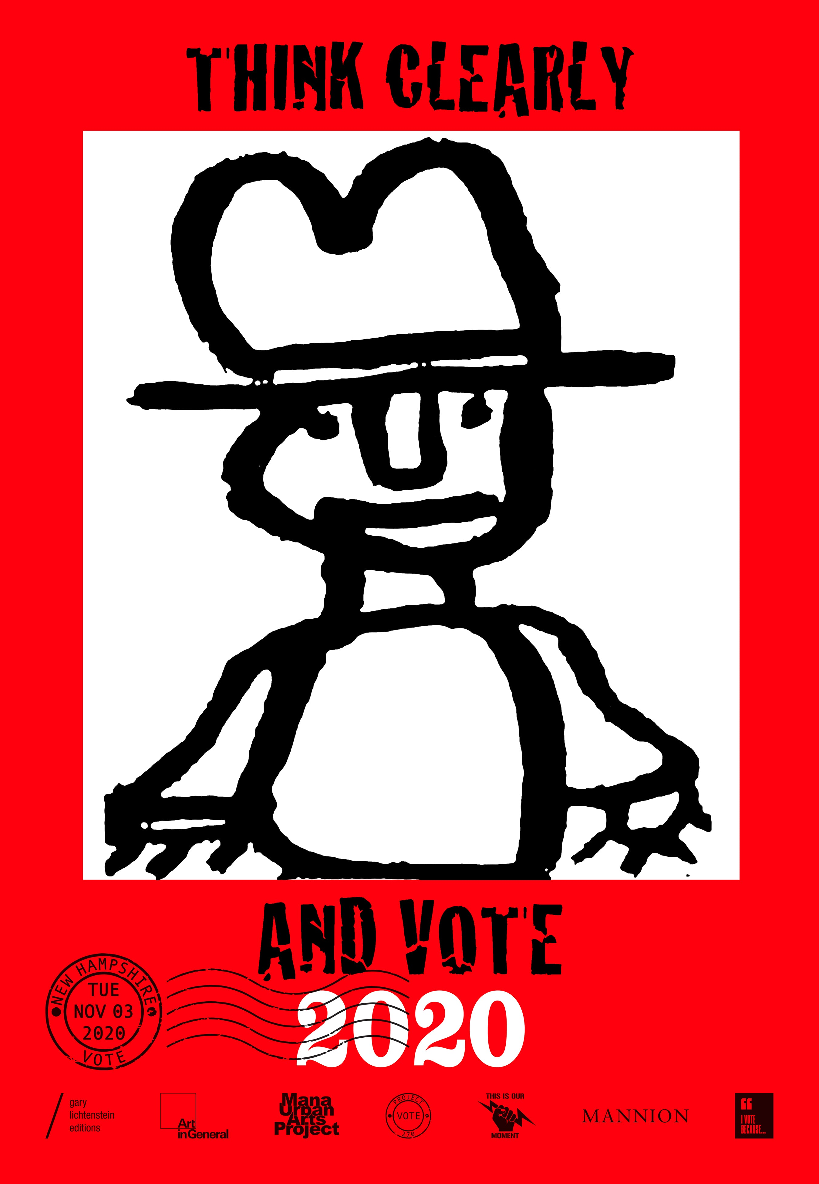 New Hampshire Get Out The Vote Poster by Phil Demise Smith